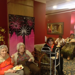 Residents trying out our delicious French inspired appetizers